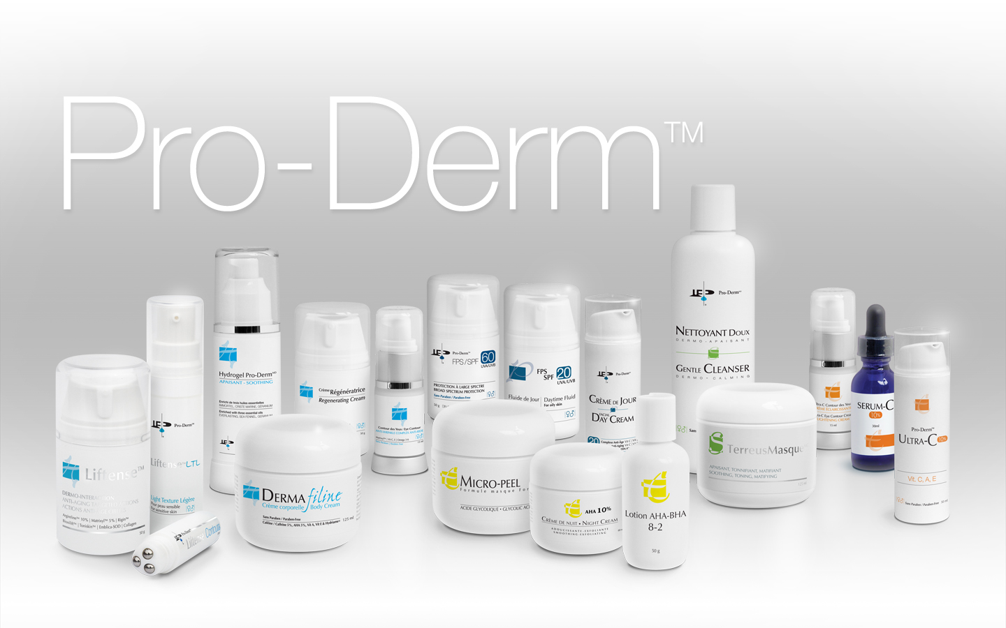 Pro-Derm Product Group Selection